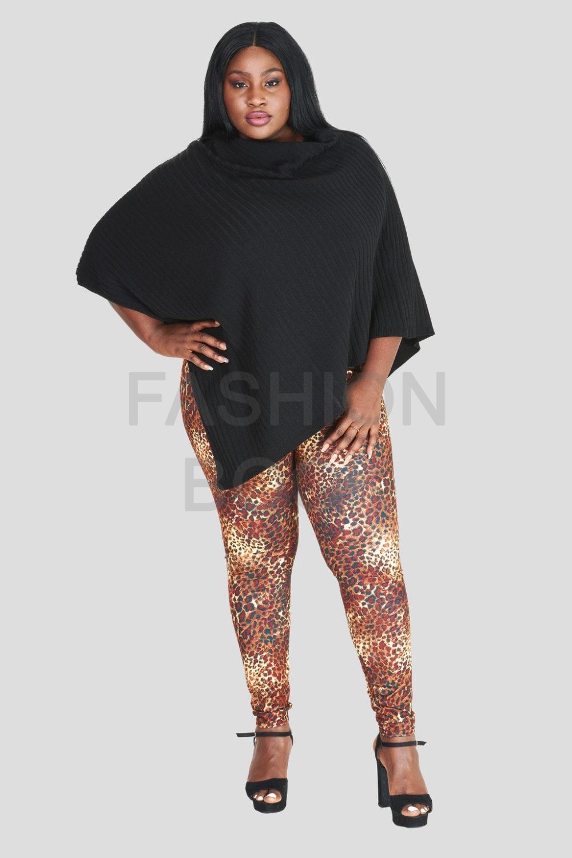 Leopard Print Leggings Plus Size Wholesale
