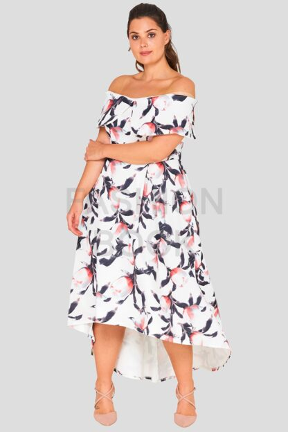 Off The Shoulder Plus Size Wholesale Occasion Dress