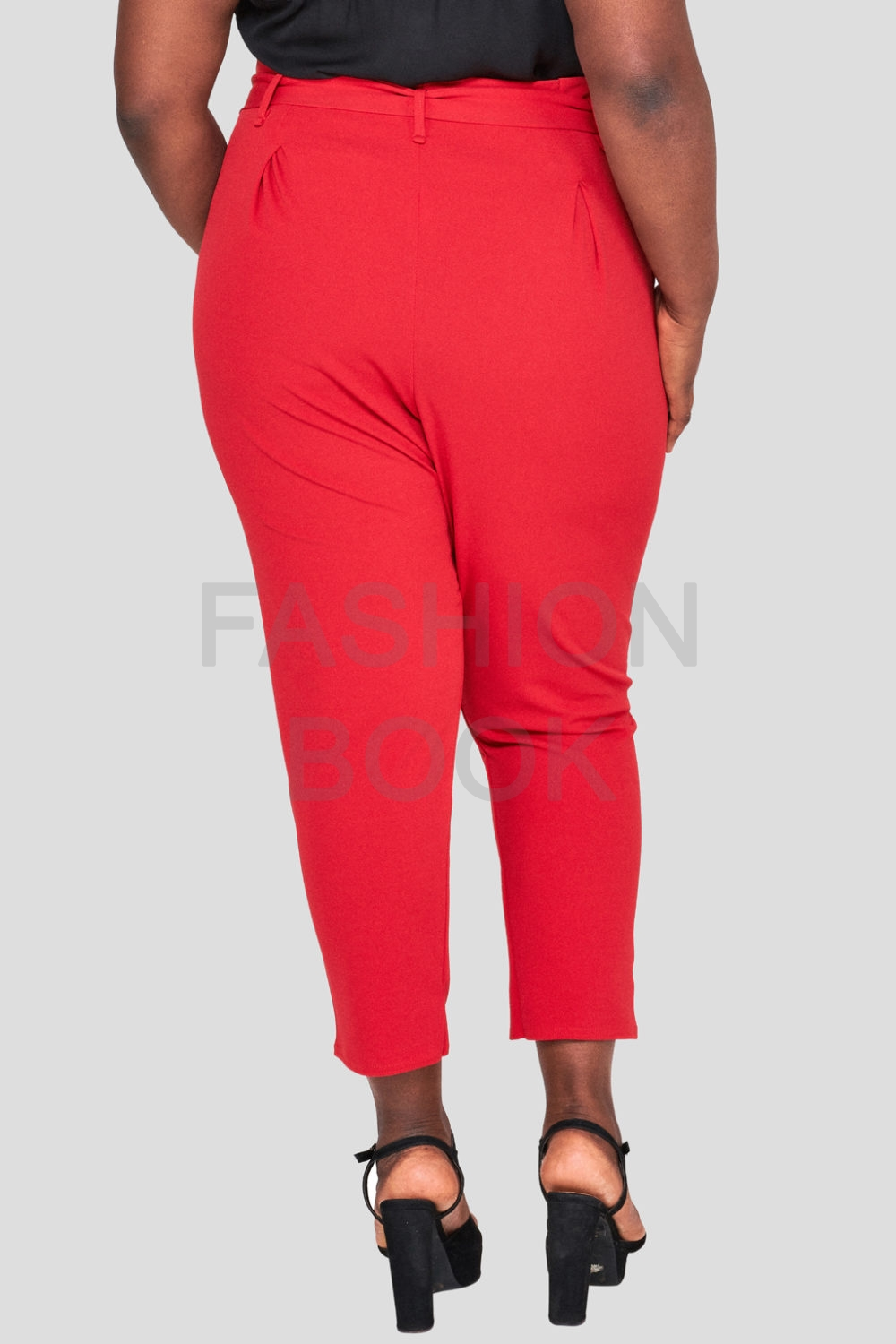 Red Plus Size Cigarette Trouser Wholesale Fashion Book