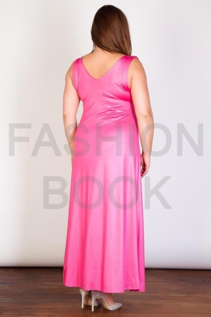 Plus Size Wholesale V Front Maxi Dress