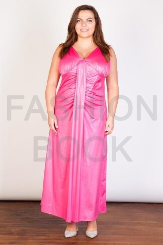 V Neck Front And Back Plus Size Maxi Dress Wholesale
