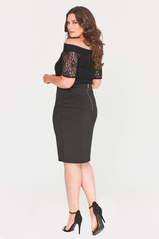 Zip Back Plus Size Pencil Skirt Wholesale