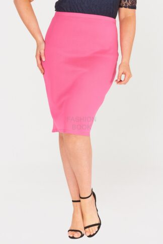 Zip Back Plus Size Pencil Skirt Wholesale