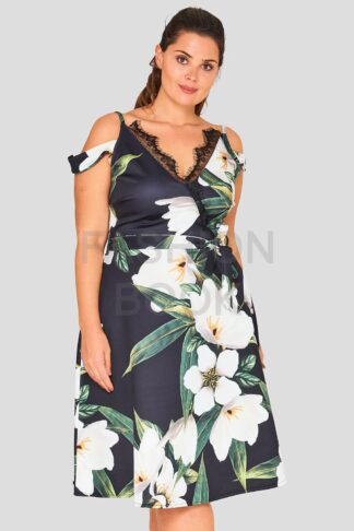Floral Plus Size Occasion Dress Wholesale
