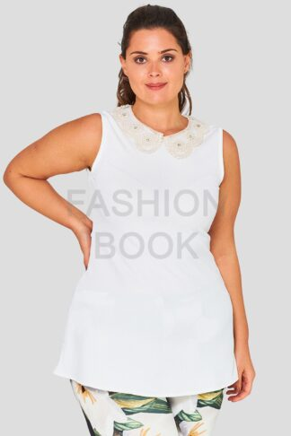 Embroidered Plus Size Wholesale Collar Top