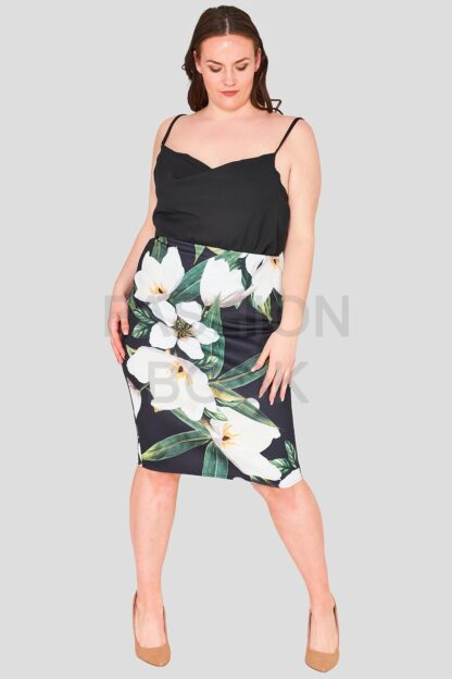 Zip Back Plus Size Wholesale Pencil Skirt