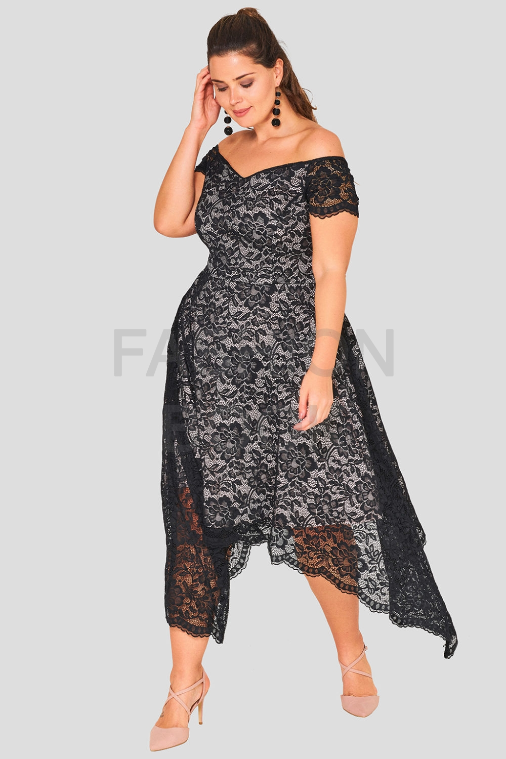 Off The Shoulder Wholesale Lace Maxi Dress