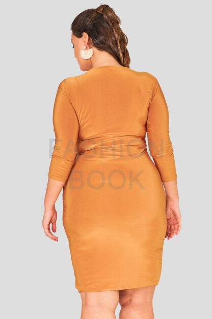 Wrap Front Evening Dress