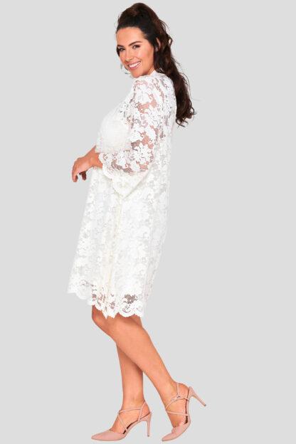 Wholesale High Neck Lace Dress Plus Size