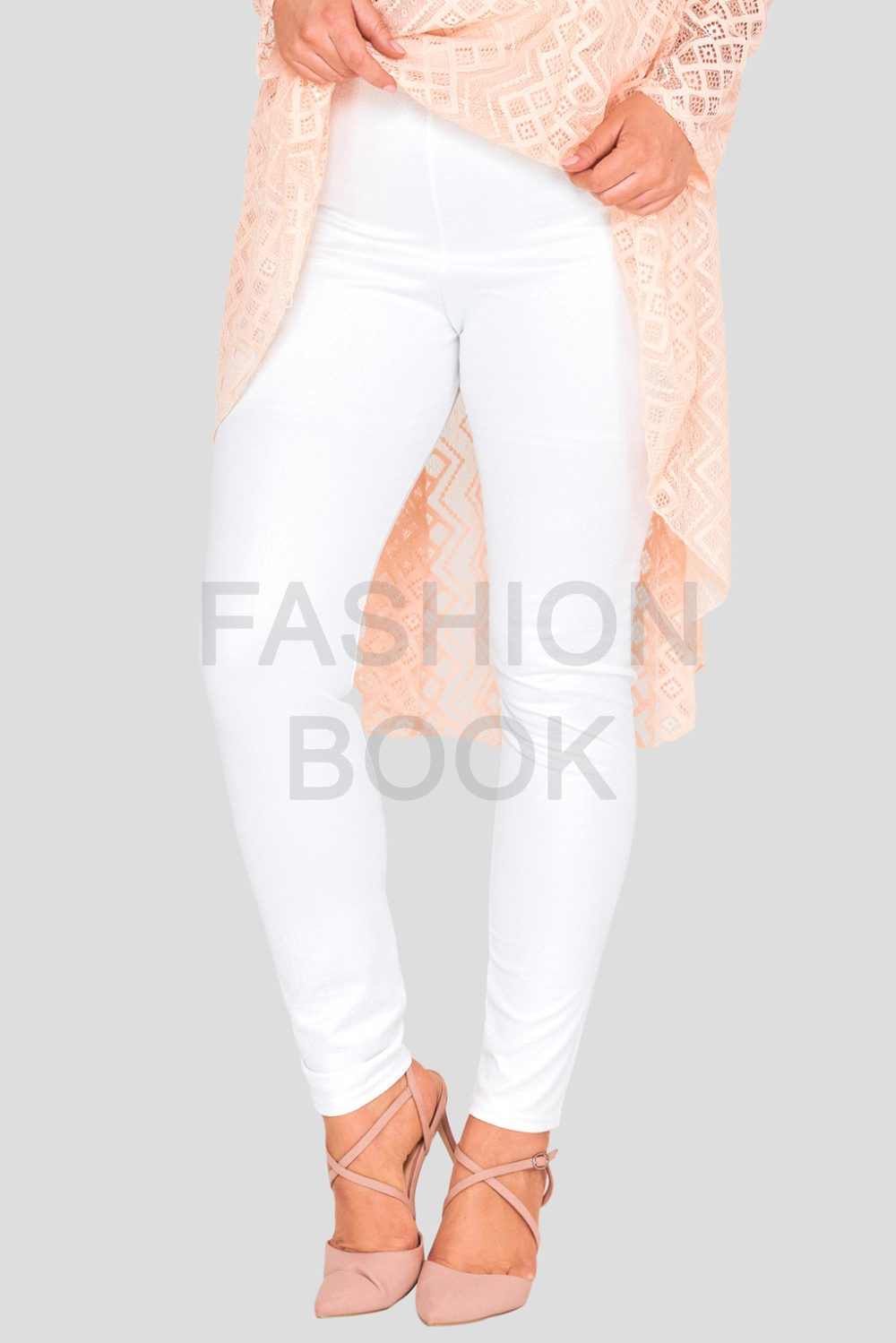 Embossed Plus Size Leggings