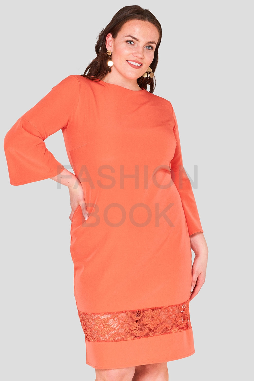 Wholesale Lace Hem Workwear Dress